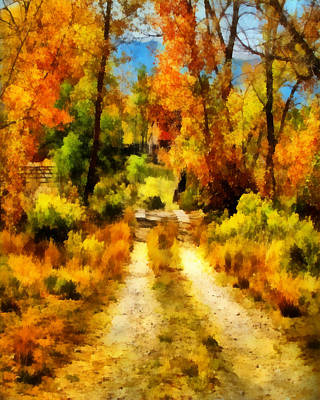 Digital Art - Autumn Road  by Ann Powell