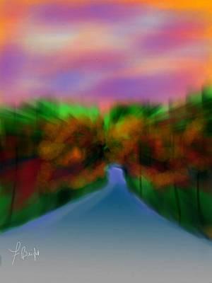 Autumn Road Art Print by Frank Bright