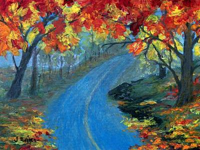 Painting - Autumn Road by Jamie Frier