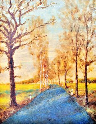Painting - Autumn Road by Martin Capek
