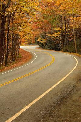 Caesars Head State Park Photograph - Autumn Road by Johan Hakansson