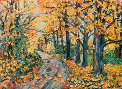 Painting - Autumn Road by Kendall Kessler