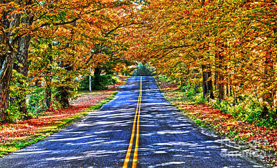 Autumn Road Oneida County Ny Art Print
