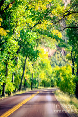 Photograph - Autumn Road Through Zion by Peta Thames