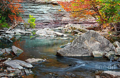 Photograph - Autumn Rocks by Charline Xia