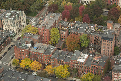 Photograph - Autumn Rooftops Of Boston by Gordon  Grimwade