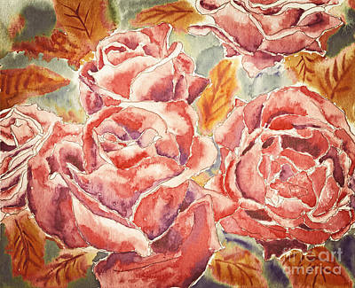 Painting - Autumn Roses by Beverly Claire Kaiya