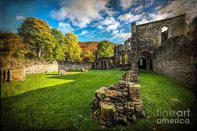 Blessed Virgin Photograph - Autumn Ruins by Adrian Evans