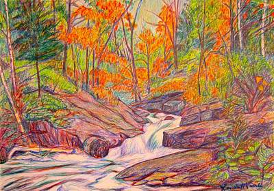 Drawing - Autumn Rush by Kendall Kessler