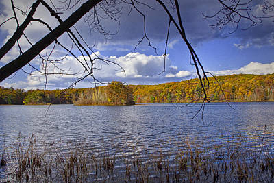 Traditional Bells - Autumn Scene from the Lakeshore by Randall Nyhof