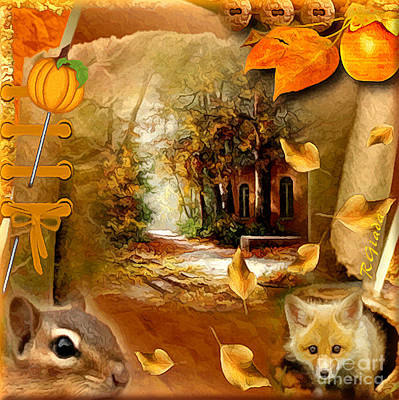 Autumn Scrap Art Print