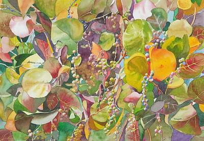 Painting - Autumn Sea Grapes by Norman Freyer