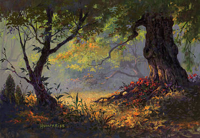 Warm Color Painting - Autumn Shade by Michael Humphries
