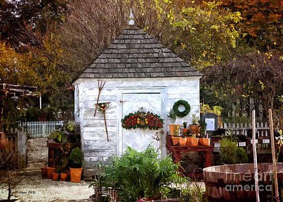 Painting - Autumn Shed by Shari Nees