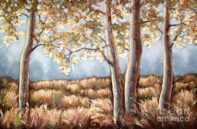 Painting - Autumn Silver And Gold by Inese Poga