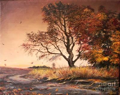 Autumn Simphony In France  Art Print by Sorin Apostolescu