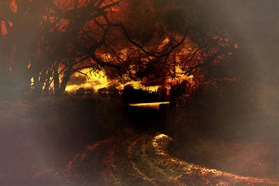 Digital Art - Autumn Sky Background by Fine Art By Andrew David