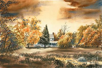 Autumn Scene Painting - Autumn Sky No W103 by Kip DeVore