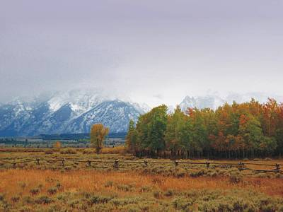 Photograph - Autumn Snow In The Tetons by Joe Duket