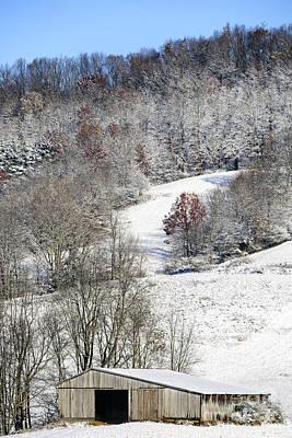 Barns In Snow Photograph - Autumn Snow West Virginia by Thomas R Fletcher
