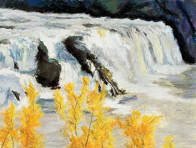 Wall Art - Painting - Autumn Spate by Jennifer Richard-Morrow
