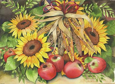 Red Sunflower Painting - Autumn Specialties by Kathleen Parr Mckenna