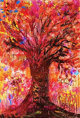 Tree Roots Painting - Autumn Splendor by Anne-Elizabeth Whiteway