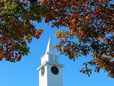 Photograph - Autumn Steeple by Gene Cyr