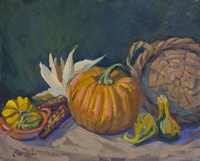 Basket Painting - Autumn Still Life by Diane McClary