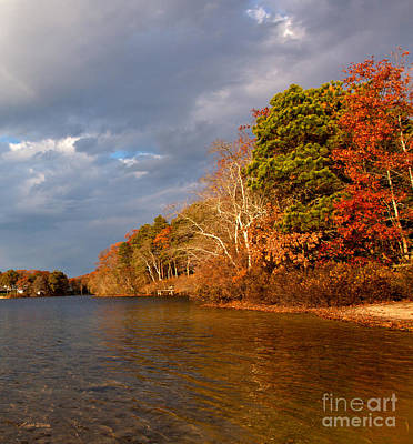 Storm Clouds Cape Cod Photograph - Autumn Storm Approaching by Michelle Wiarda