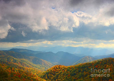 Photograph - Autumn Storm Over The Great Smoky Mountains National Park by Nature Scapes Fine Art
