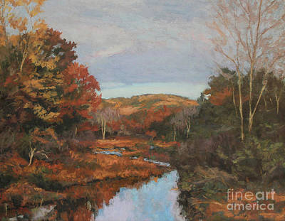Introspective Painting - Autumn Stream by Gregory Arnett