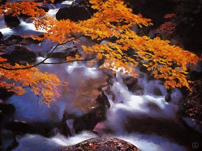 Autumn Landscape Digital Art - Autumn Stream by Gun Legler