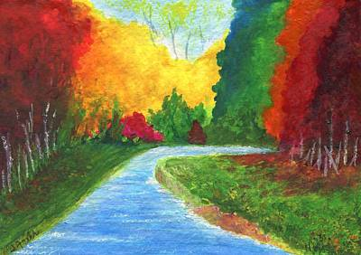 Painting - Autumn Stream by Jamie Frier