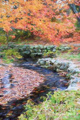 Sudbury Ma Digital Art - Autumn Stream by Jayne Carney