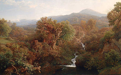 Beautiful Creek Painting - Autumn Stream by Mountain Dreams