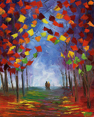 Change Painting - Autumn Stroll by Ash Hussein