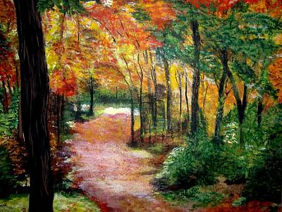 Painting - Autumn Stroll by Denise Hills