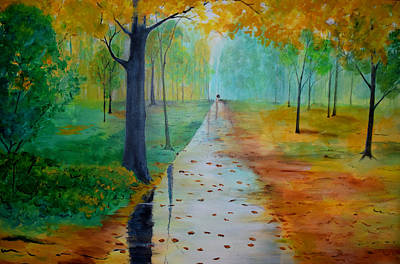 Painting - Autumn Stroll by Gary Smith