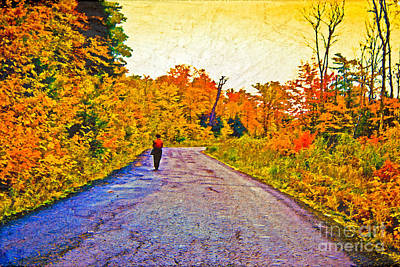 Photograph - Autumn Stroll by Valerie Fuqua