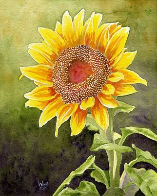 Painting - Autumn Sunflower by Brett Winn