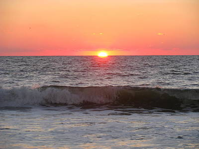 Photograph - Autumn Sunrise And Wave by Ellen Meakin