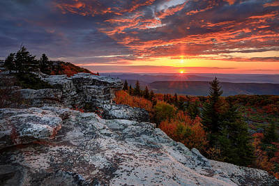 Autumn Sunrise At Dolly Sods Art Print by Jaki Miller