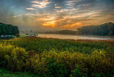 Photograph - Autumn Sunrise by Gene Sherrill