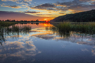 Long Island Photograph - Autumn Sunrise by Mike Lang