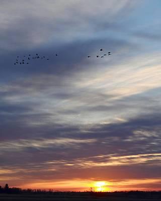 Photograph - Autumn Sunrise On The Prairie by Kim Bemis
