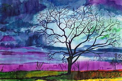 Autumn Sunset Art Print