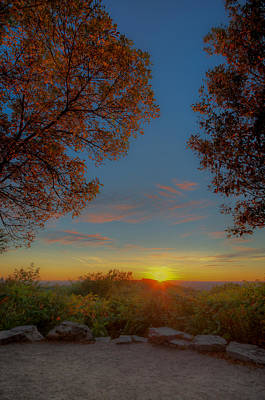 Photograph - Autumn Sunset by Martin New