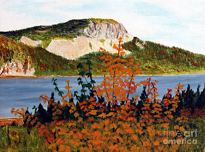 Art Print featuring the painting Autumn Sunset On The Hills by Barbara Griffin