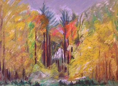 Pastel - Autumn Sunset Portal  by Therese Legere